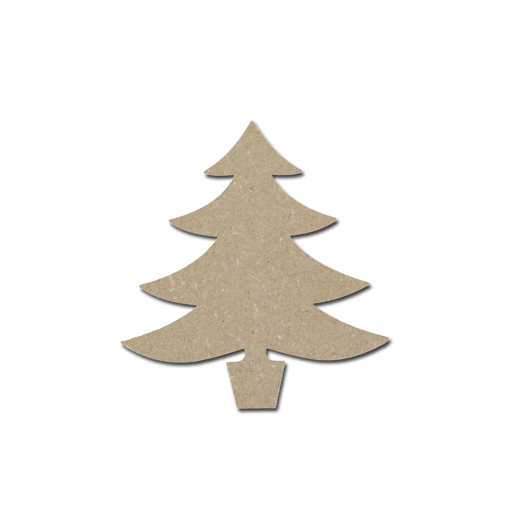 Christmas Tree Shape Unfinished Wood Cutout Variety Of Sizes