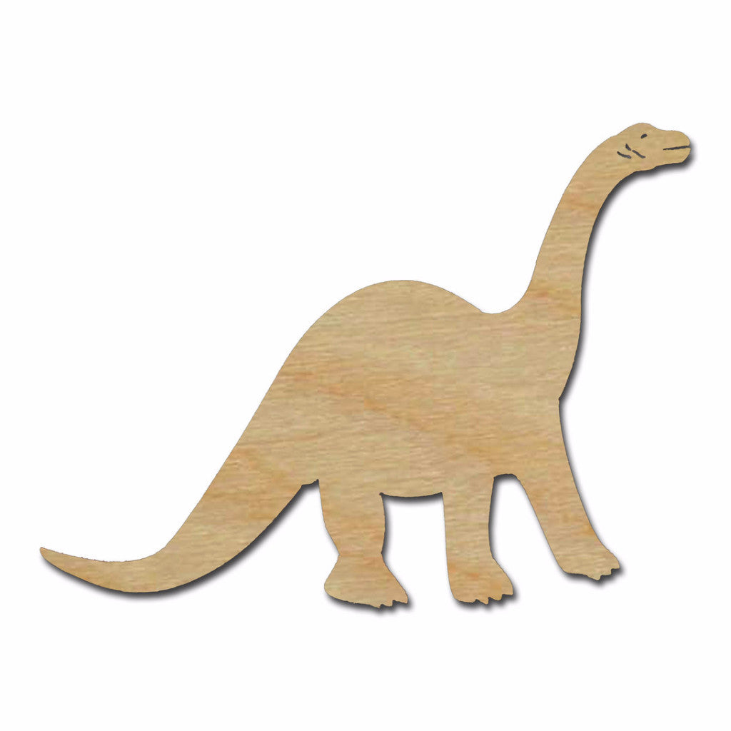 Brachiosaurus Dinosaur Shape Unfinished Wood Cutouts Variety of Sizes