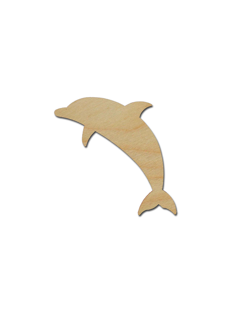 Dolphin Shape Unfinished Wood Cutout Variety of Sizes