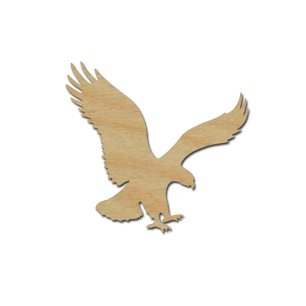 Eagle Flying Unfinished Wood Craft Cut Outs Bird Shapes Variety of Sizes #003