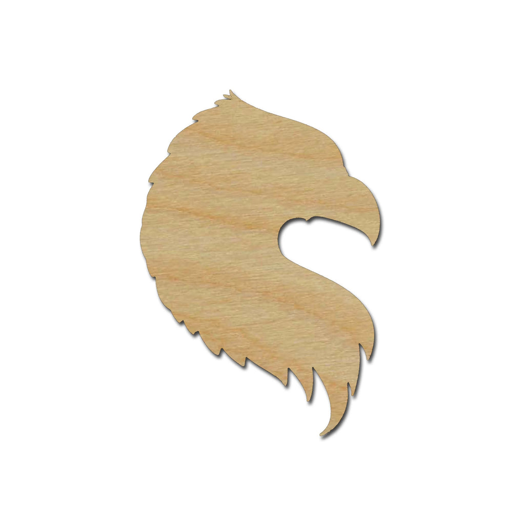Eagle Head Shape Unfinished  Wood Cutouts DIY Crafts Birds Variety of Sizes #002