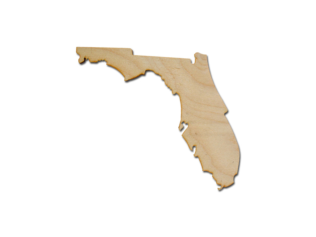 Florida State Shape Unfinished Wood Craft Cut Out Variety Of Sizes Made In USA