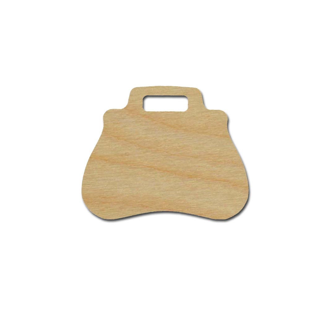 Handbag Shape Unfinished Wood Craft Cutout Variety of Sizes
