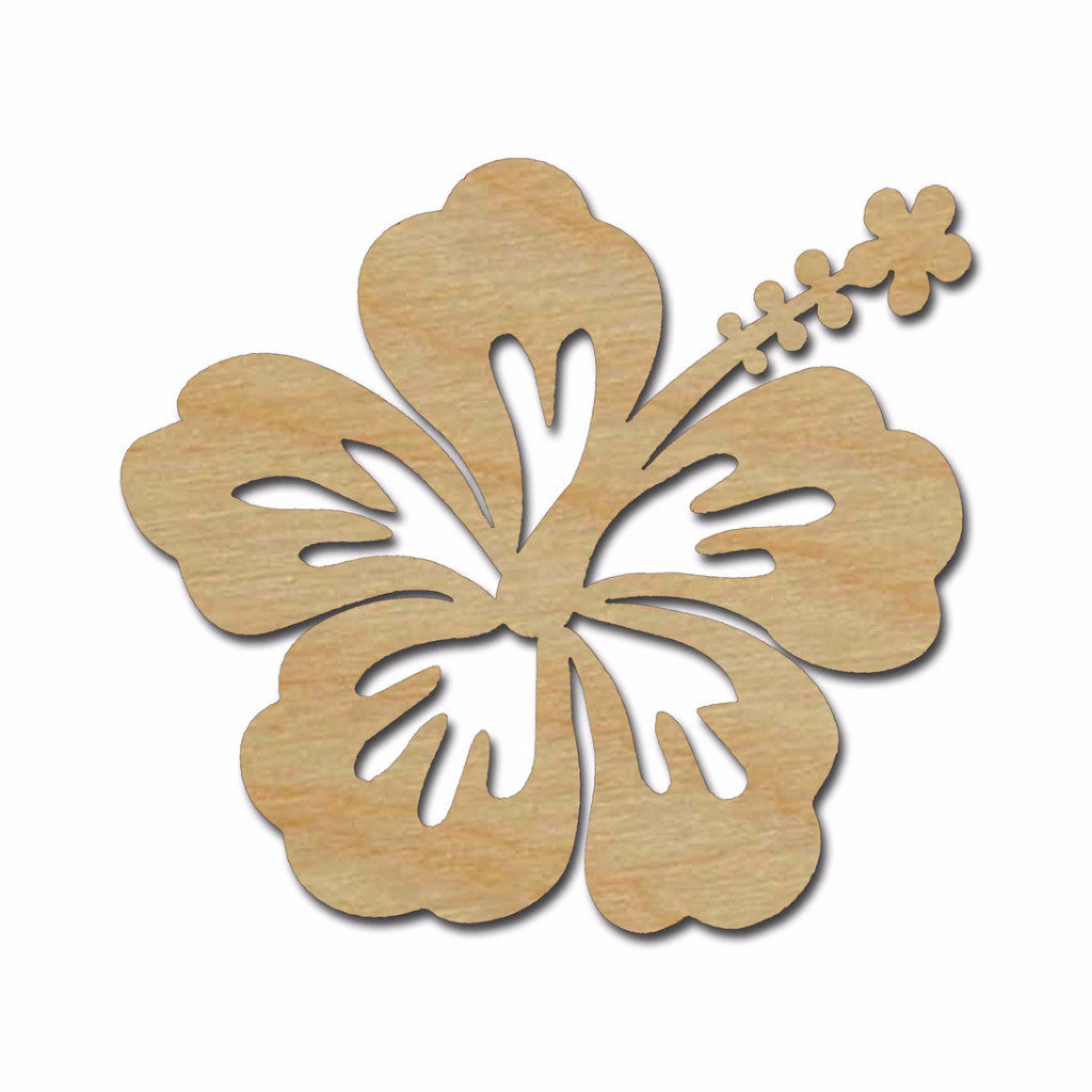 hibiscus flower wood cutout