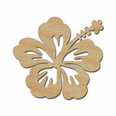 Hibiscus Flower Shape Unfinished Wood Craft Cutouts Variety of Sizes Artistic Craft Supply