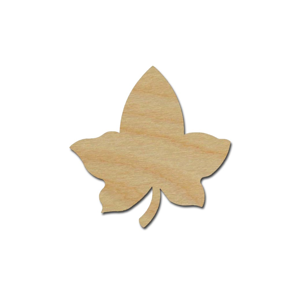 Ivy Leaf Leaf Shape Unfinished Wood Cutout Variety of Sizes