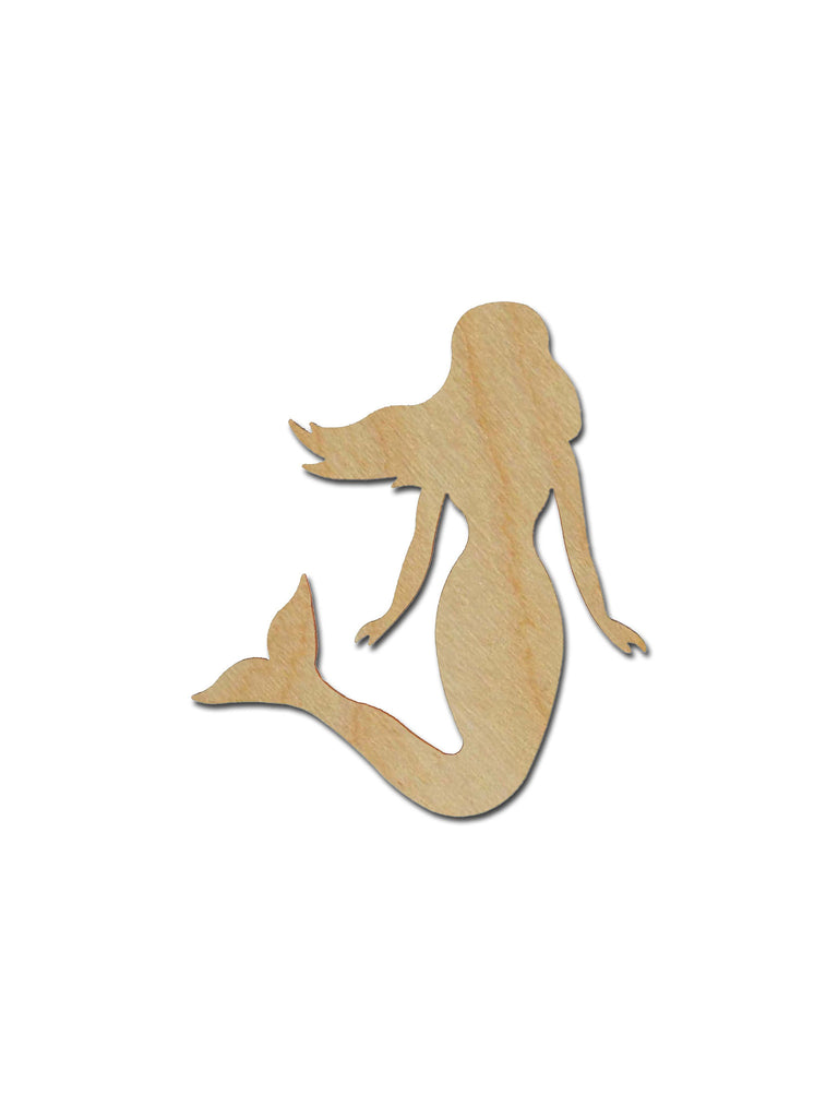 Mermaid Unfinished Wood Cutout Sea Life Theme Variety of Sizes