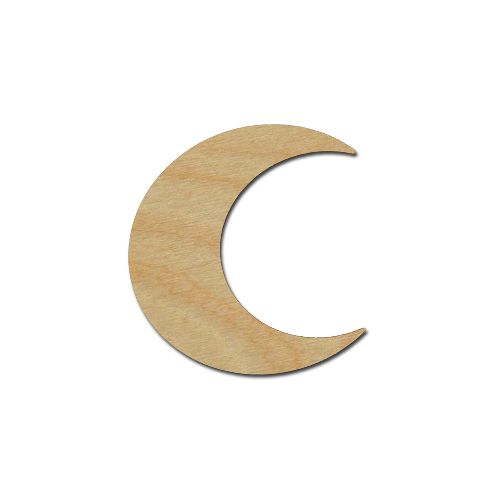 Moon Shape Unfinished Wood Cutout Variety of Sizes