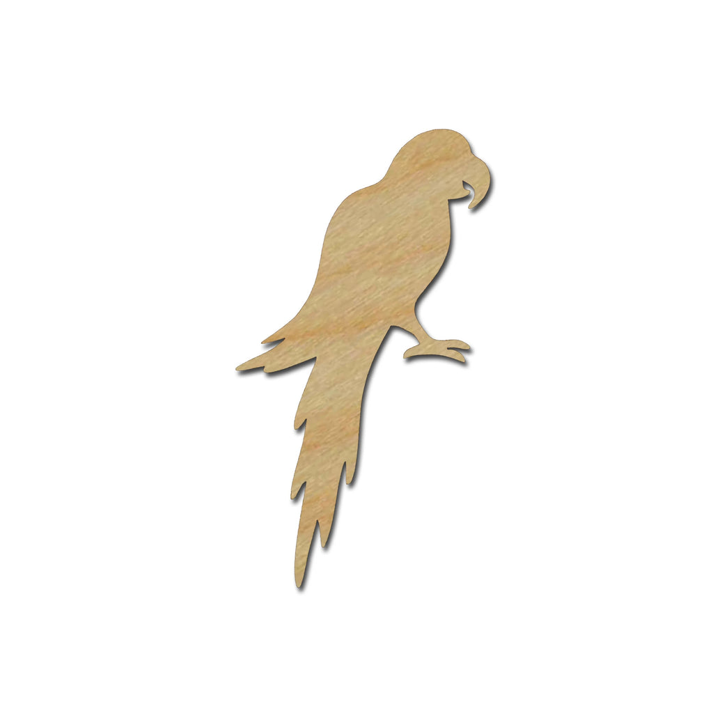 Parrot Unfinished Wood Craft Cut Outs Bird Shapes Variety of Sizes