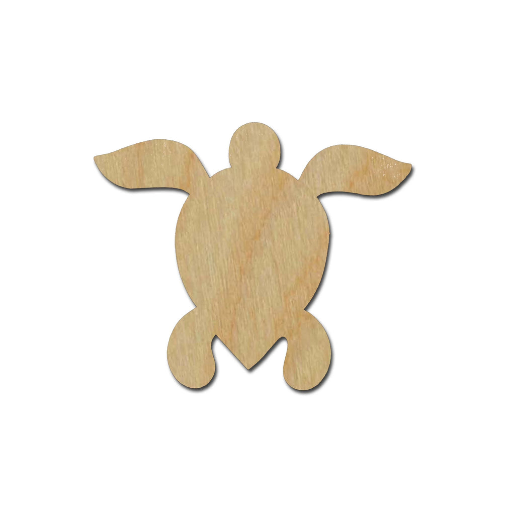 Sea Turtle Unfinished Wood Cutout Sea Life Theme Variety of Sizes