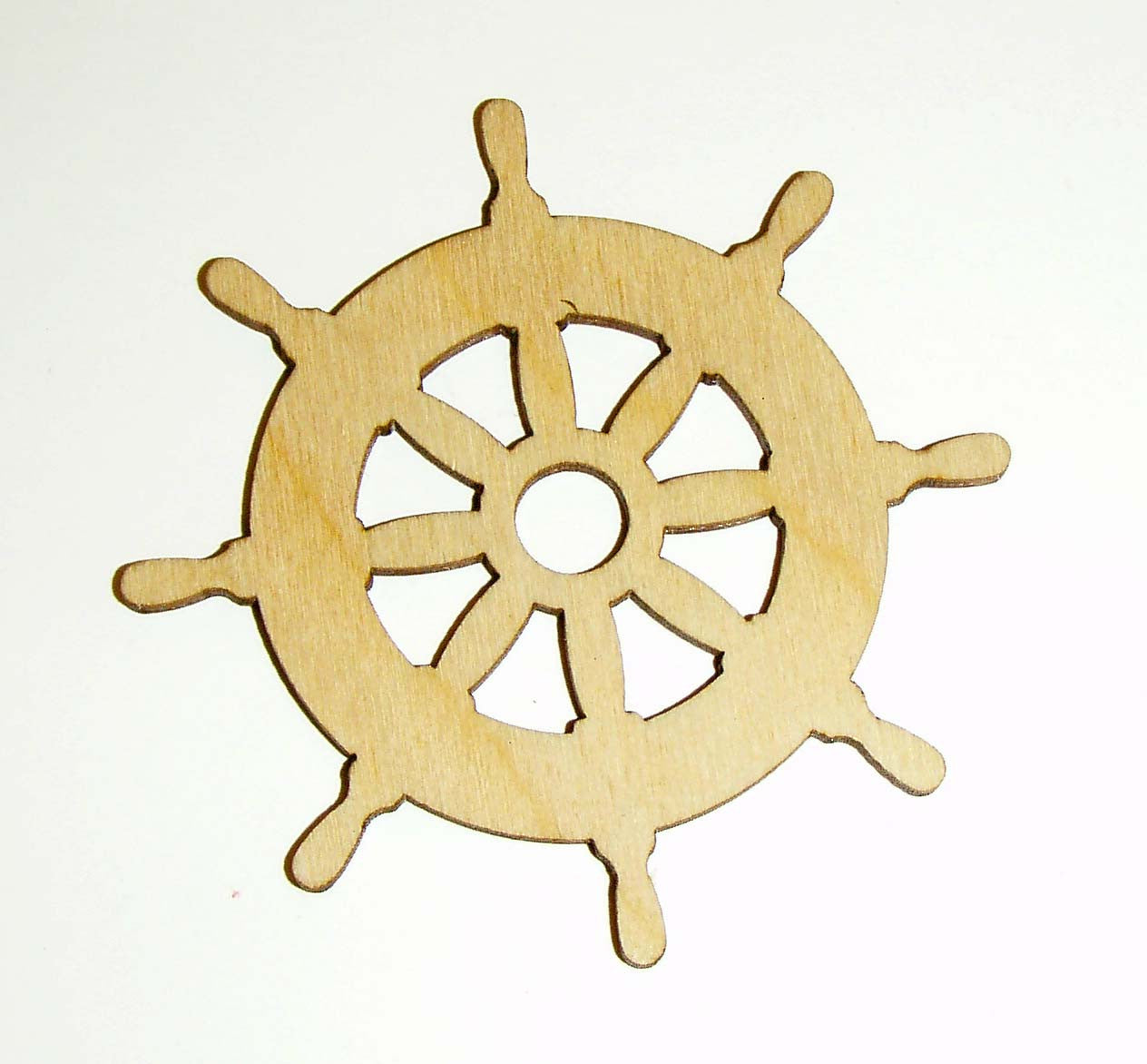 Ship Wheel Shape Unfinished Wood Cut Out Nautical Theme Variety Of Sizes