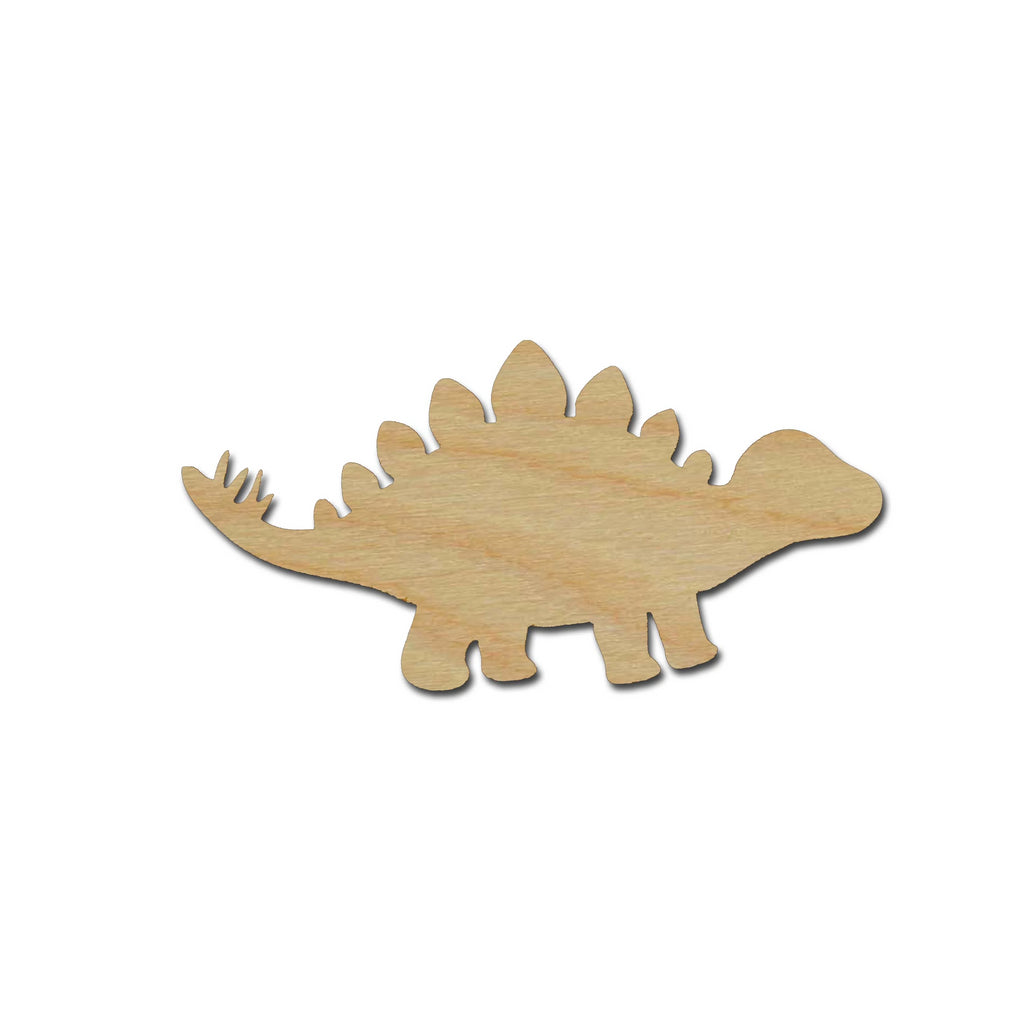 Stegosaurus Dinosaur Shape Unfinished Wood Cutout Variety of Sizes