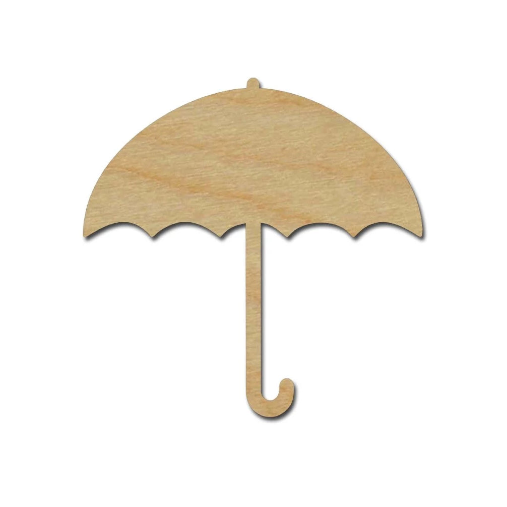 Umbrella Wood Cutout Unfinished DIY Craft Shapes Variety of Sizes
