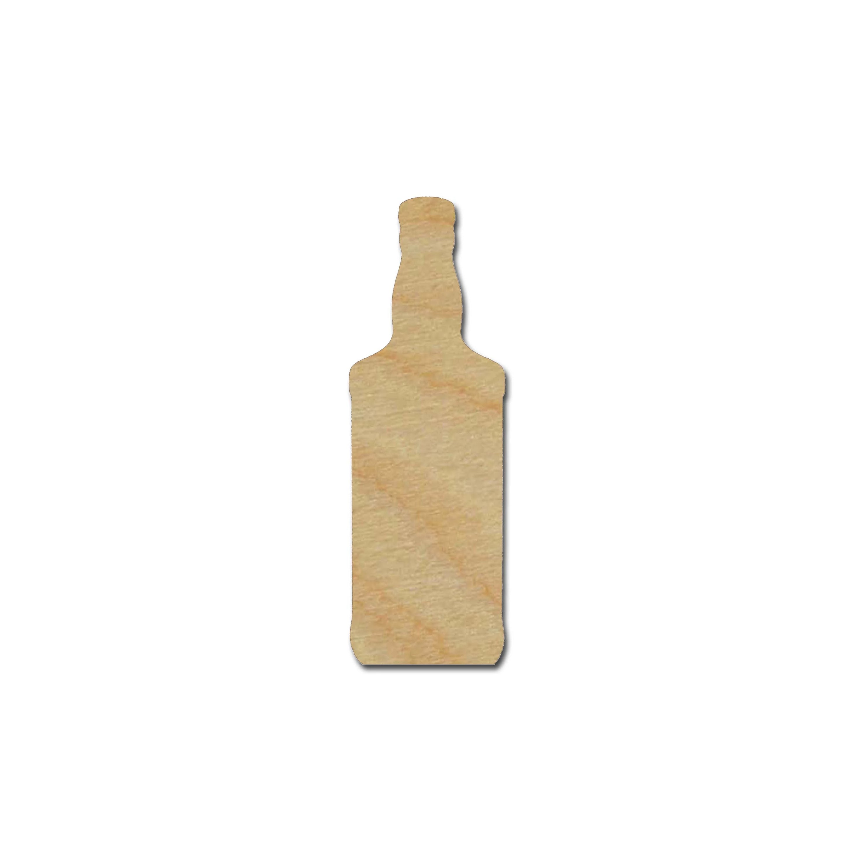 whiskey bottle shape unfinished wood cutout