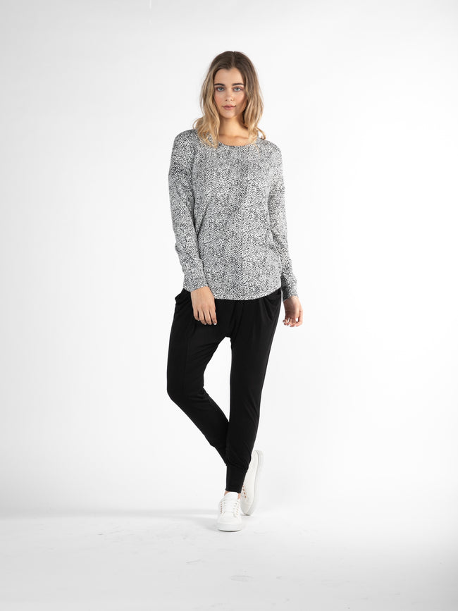 Sophie Knit Jumper White/Black
