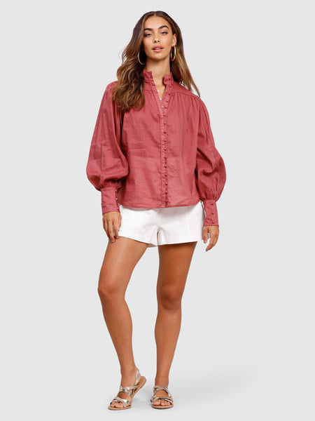 Belle of Bloom Shirt Dusty Berry