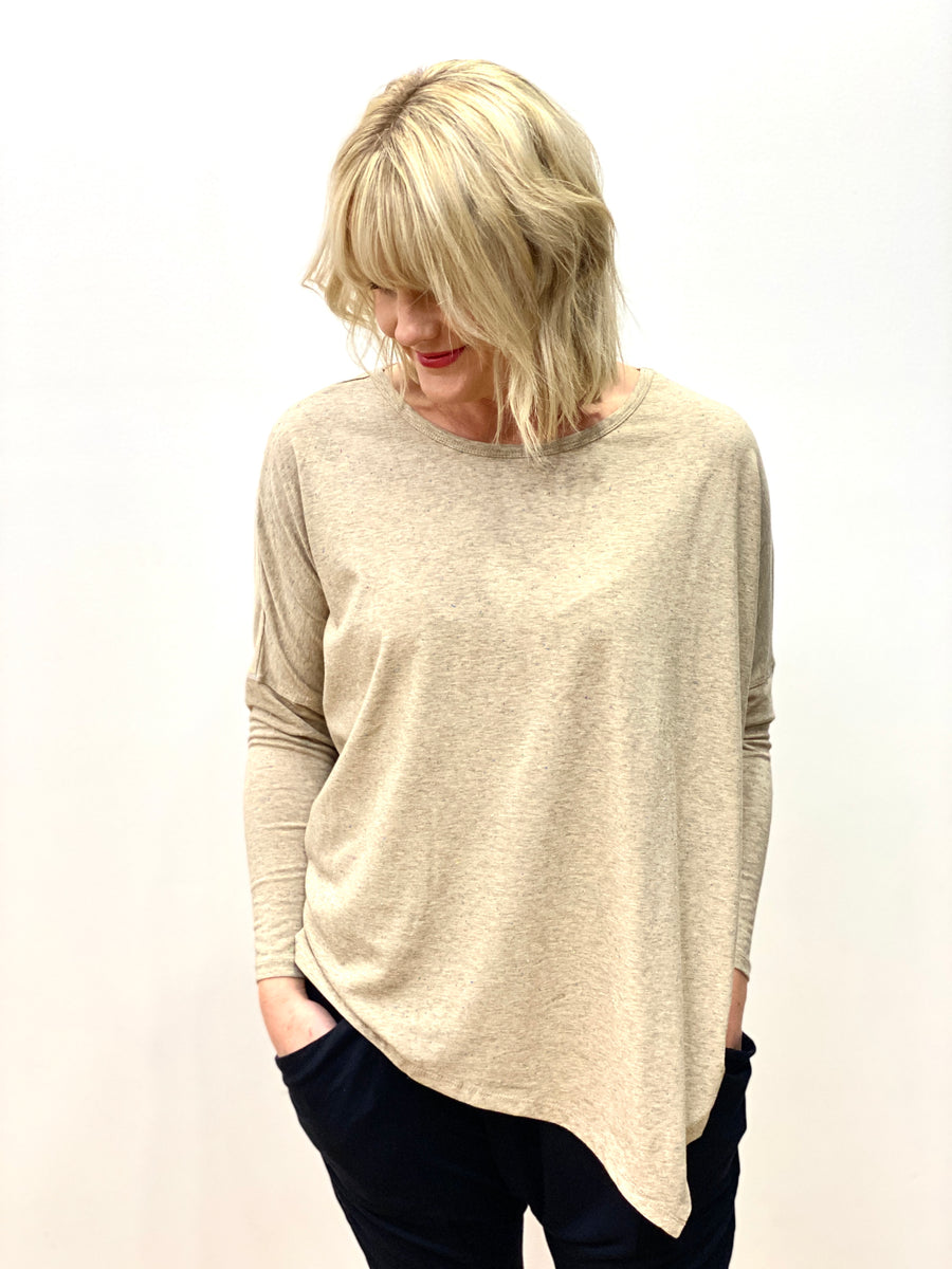Smith Asymmetrical Top Oatmeal