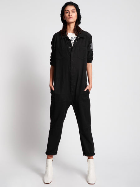 Black Bird Paradise Utility Jumpsuit