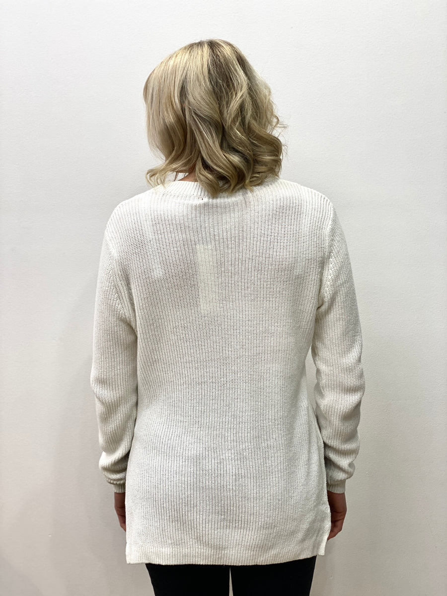 Edwards Knit White