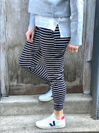 Terri Jogger Black/White Stripe