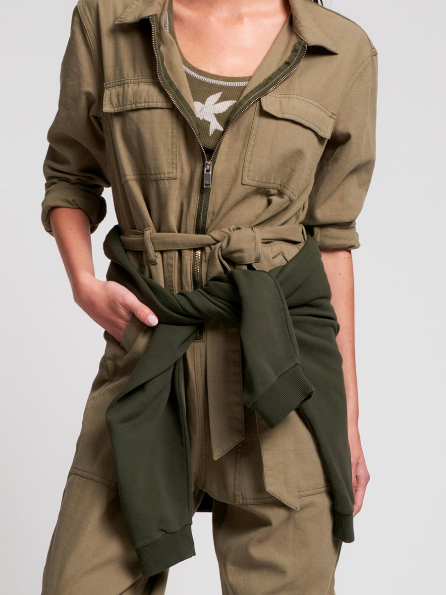 Super Khaki Claudia Denim Overalls