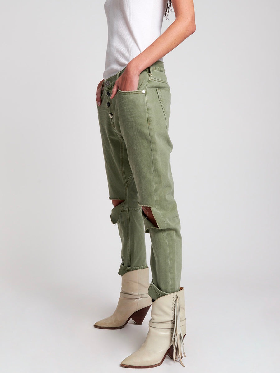 Super Khaki Saints Boyfriend Jean