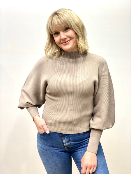Sophie Balloon Sleeve Knit Mocha
