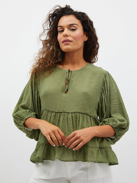 Ellis Smock Balloon Top