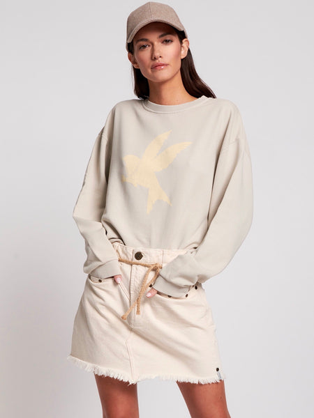Bird Logo Sports Sweater