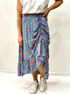 Dusty Maxi Skirt Blue