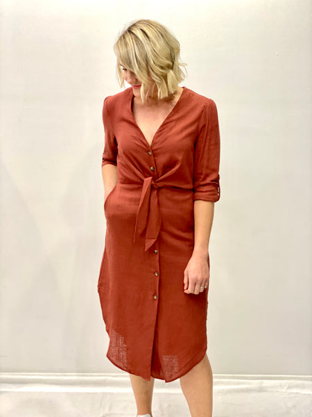 Bonnie Linen Dress