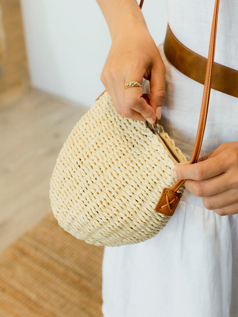 Delilah Bucket Bag Natural
