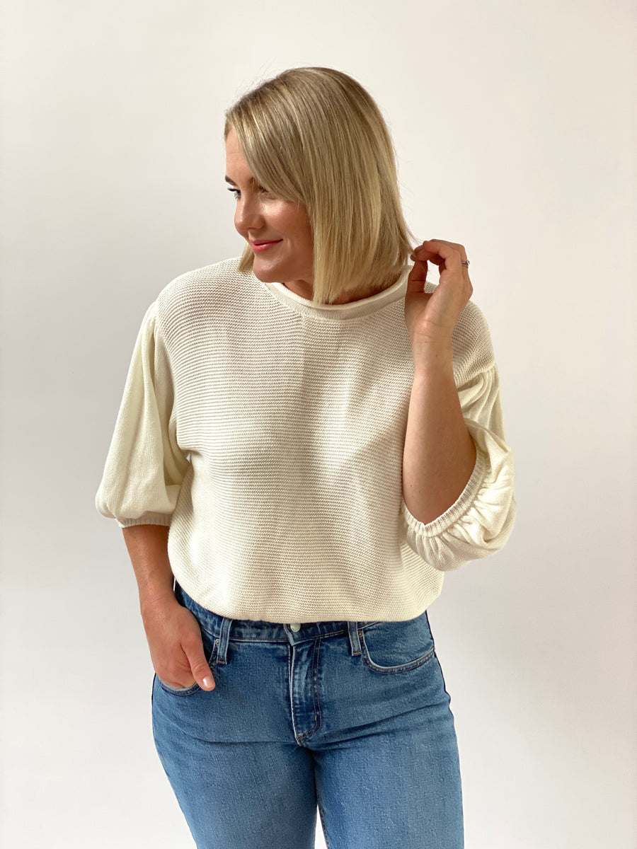 Remi Knit Top White