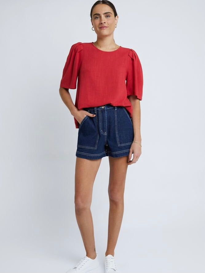 Camille Blouse Red