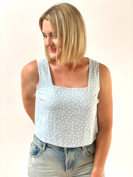 Bliss Crop Blue