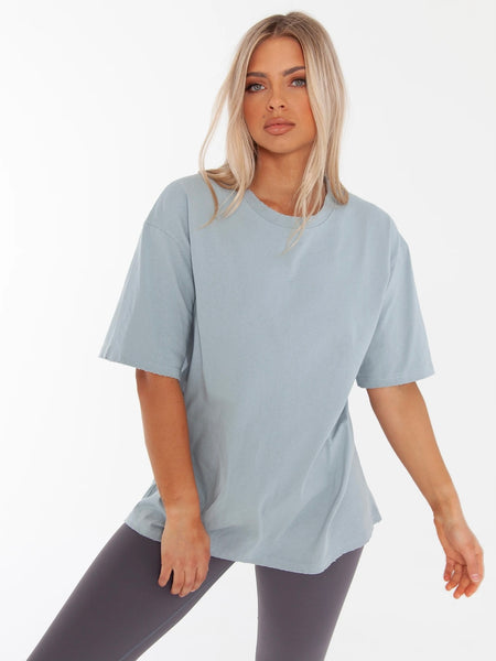 Boyfriend T-Shirt Bluestone