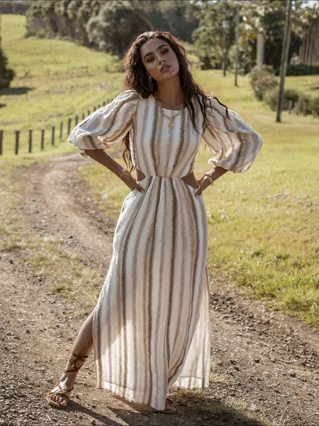 Seventies Soul Stripe Maxi Dress