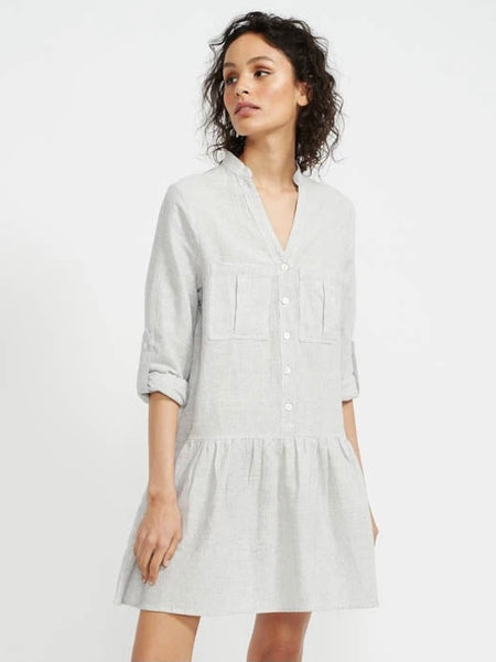 Adrift Mini Shirtdress