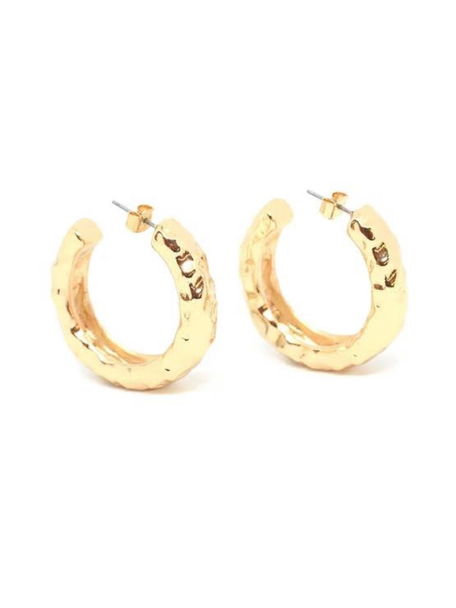 Angelina Hoops Gold Polished