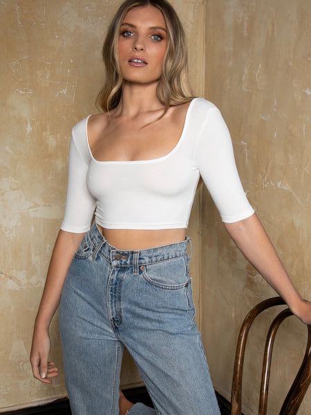 Kara Crop White