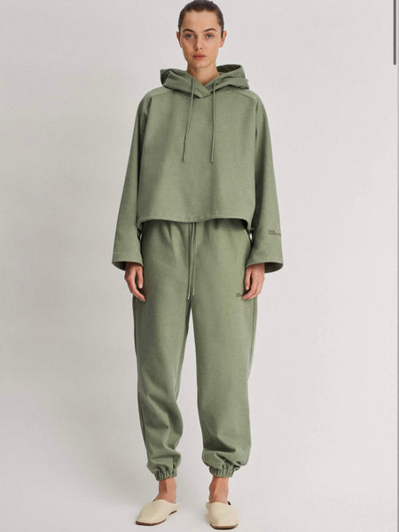 Limia Cropped Hoodie Sage