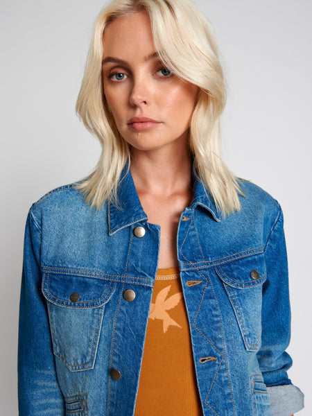 Riviera Fitted Retro Denim Jacket