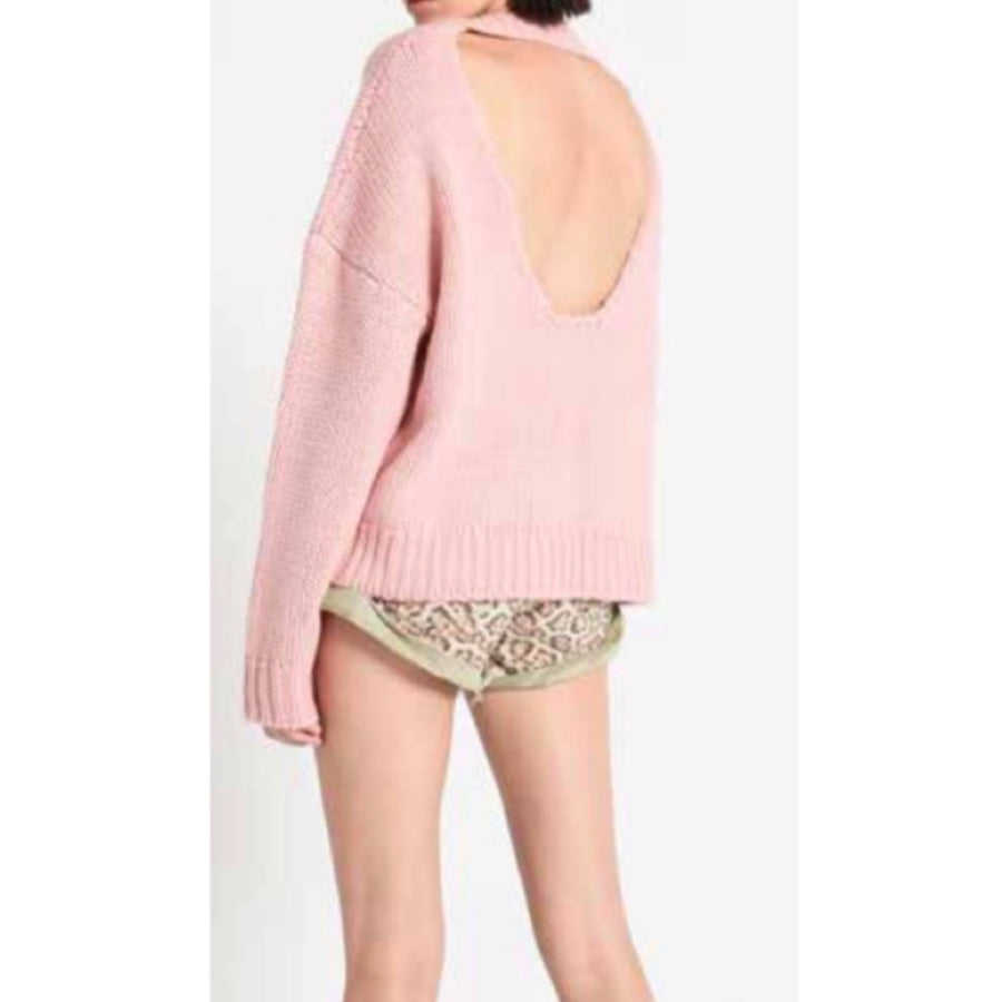 Pamela Open Back Sweater