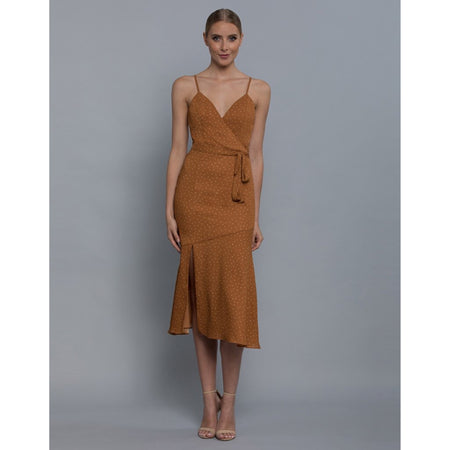 Bianca Wrap Bodice Dress