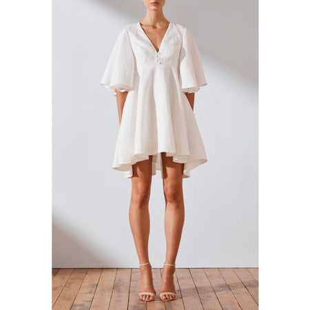 Savannah Linen Flared Mini Dress