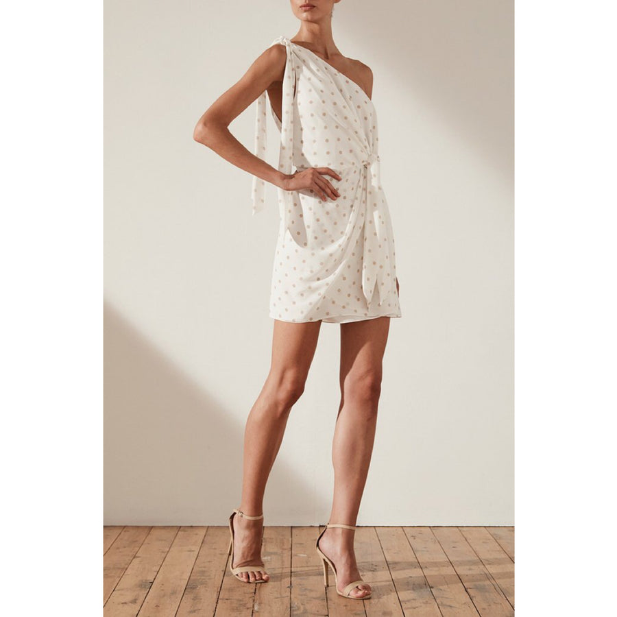 Sophia Tie Front One Shoulder Mini Dress