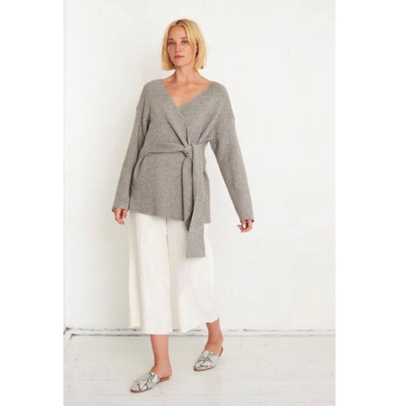 Avery Wrap Knit Grey