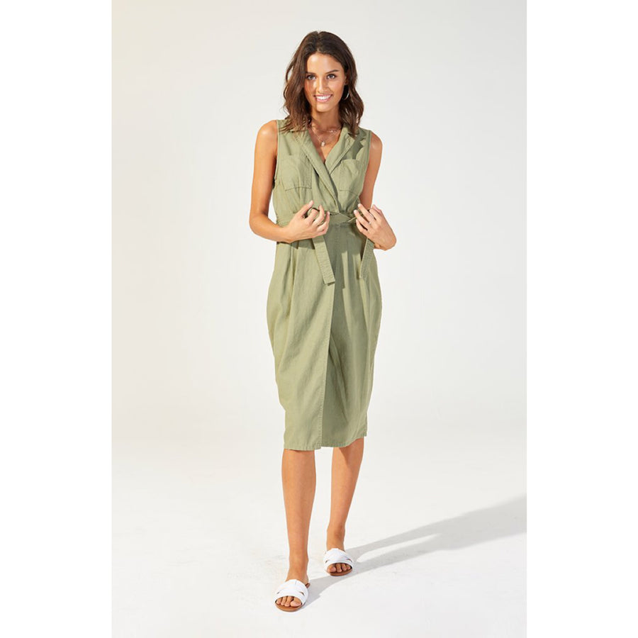 Eastside Midi Wrap Dress