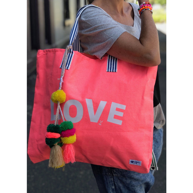 Large Weekend Tote Melon