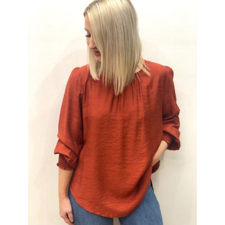 Bracken Blouse in Rust